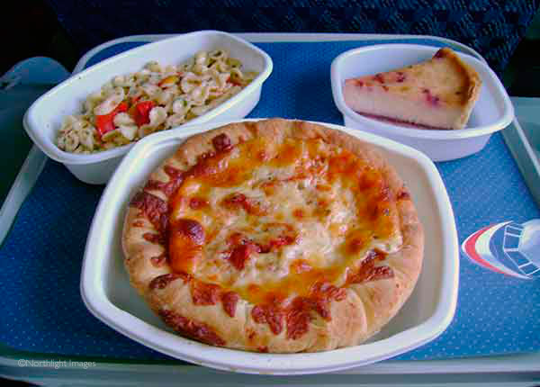 excellent pizza on American Airlines