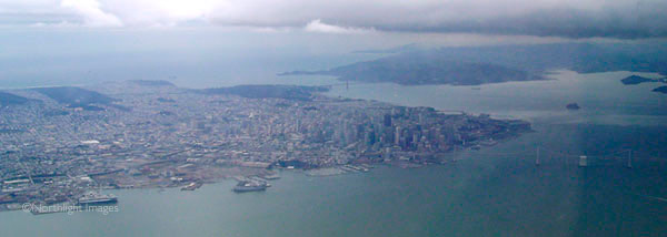 SF and the golden gate bridge