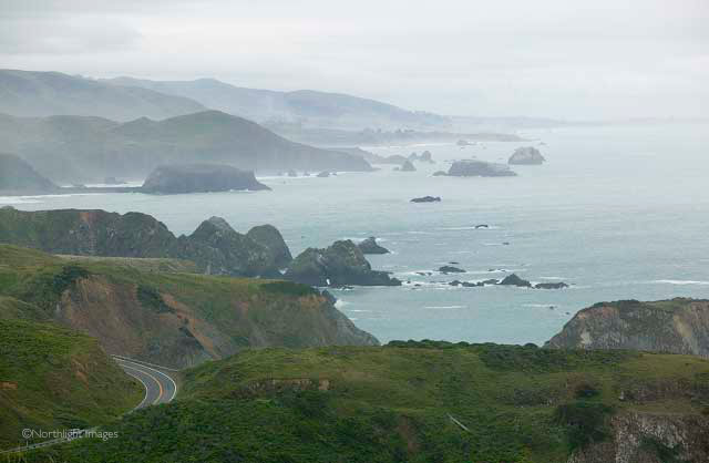 pacific coast road view