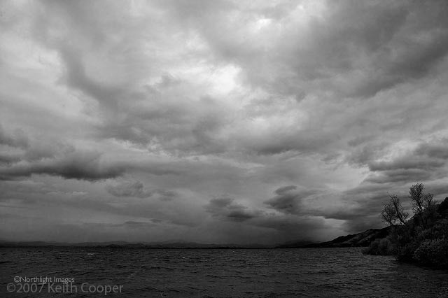storm on clear lake