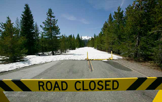 lassen volcanic park road closed