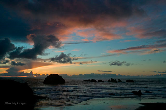 face rock sunset, bandon, oregon