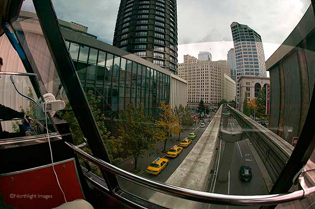 seattle street from the monorail