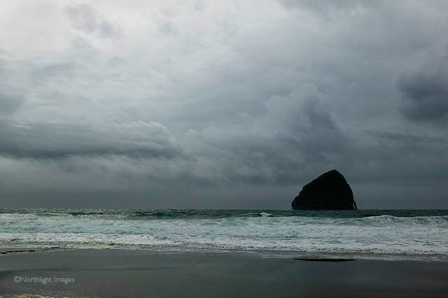 cloudy day at Cape Kiwanda