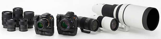 New Sony DSLR Alpha cameras