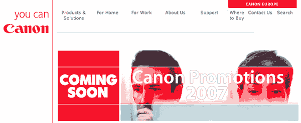 Canon rebates in Europe 2007