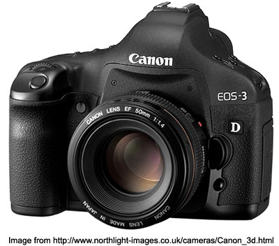 EOS 3D and 50mm lens