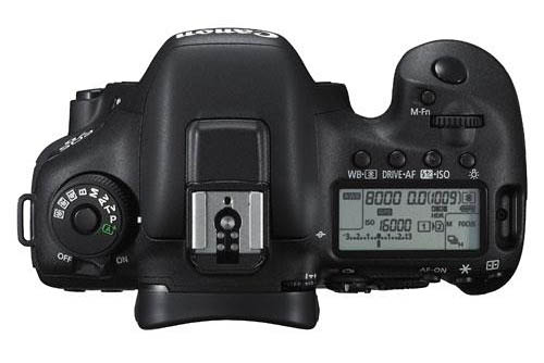 top  view of Canon 7D mk2 camera