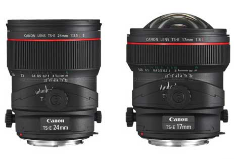 new canon tilt shift lenses 17mm and 24mm