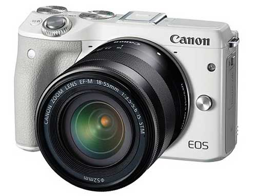 eos m3 mirrorless camera (white)