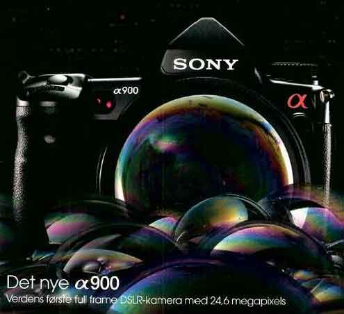 sony alpha900 advert
