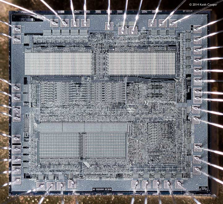 Intel 8031 microprocessor chip