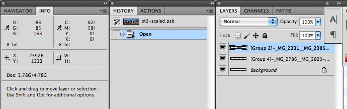 multiple layers in Photoshop