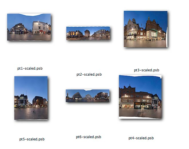 final panoramic image segments