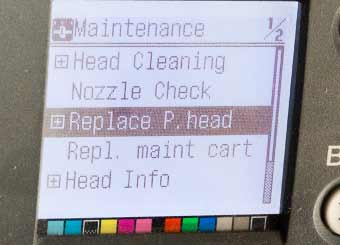 menu option for head replacement