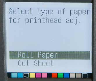 paper type selection