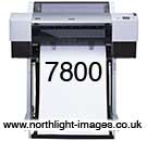 SP 7800 Epson A1 wide format printer