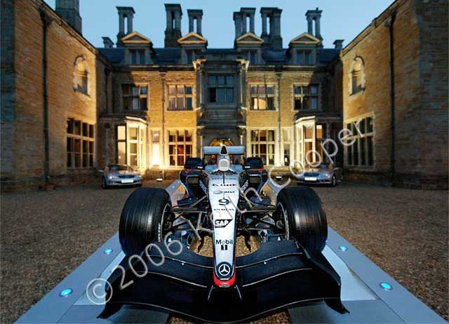 McLaren F1 car at Holdenby house