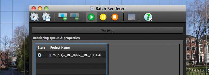 rendering queue for panoramic images