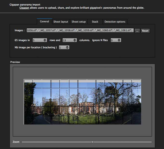 using the GigaPan import wizard
