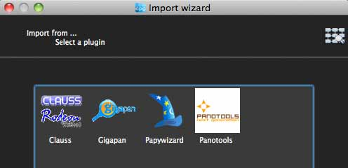 import wizards for autopano giga