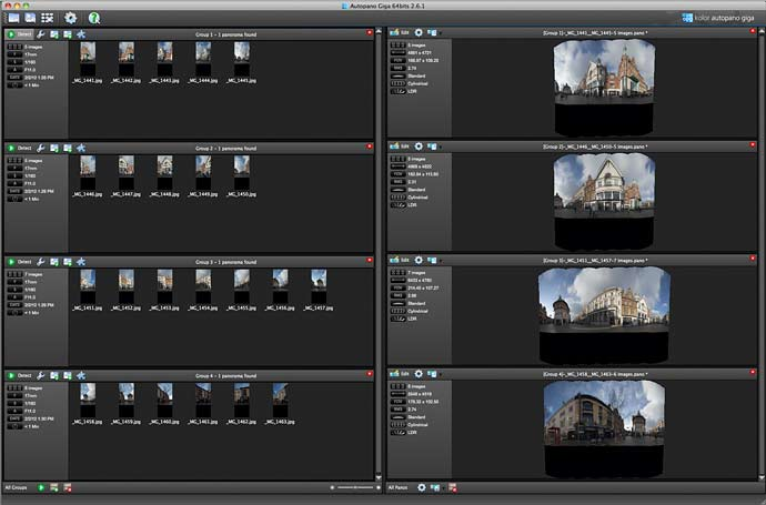 multiple panoramas ready to render