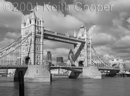 Tower Bridge - converted from colour using layers