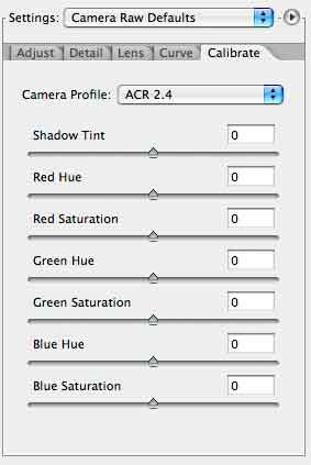 acr calibration settings