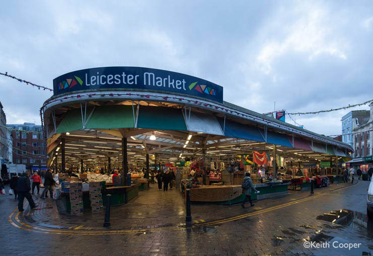 The market at Leicester - colour image