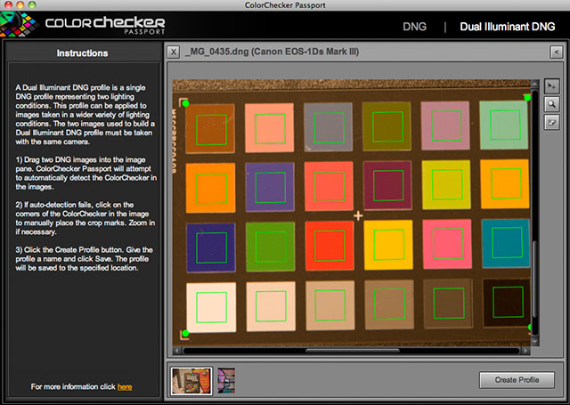 auto selection of colorchecker patches