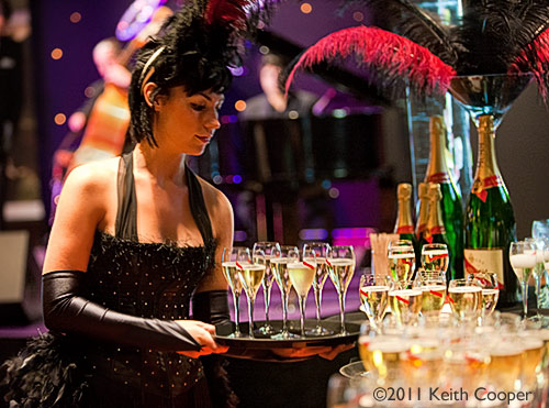 champagne reception - corporate event photography