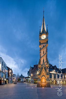 The clock tower in Leicester City centre