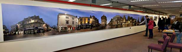 large panoramic print on show