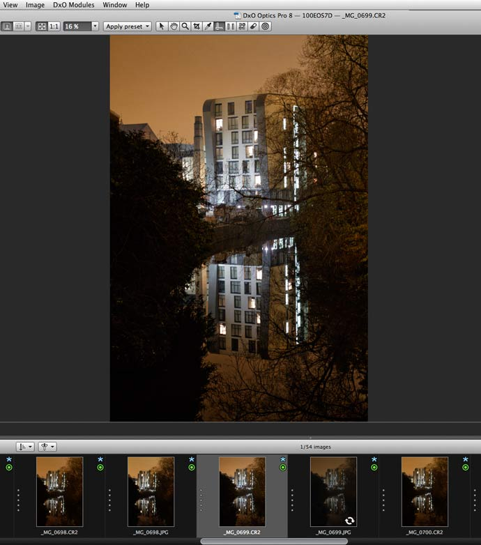 selecting image from different shots
