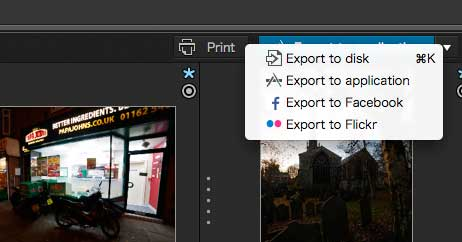 image export options