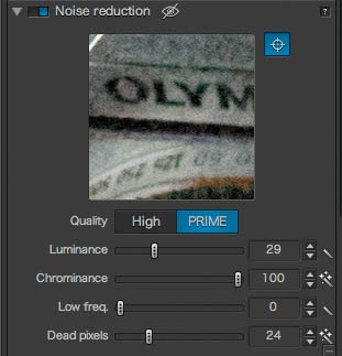 fine tuning PRIME noise adjustment