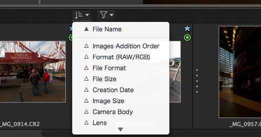 file sorting options