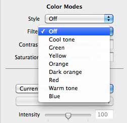 colour filter options