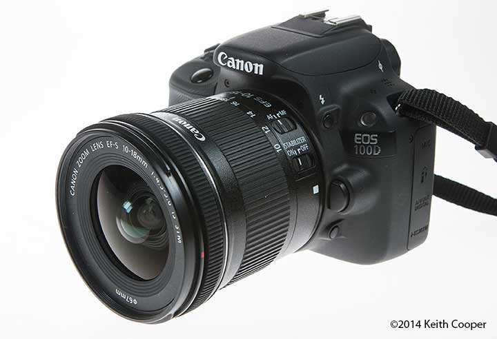 ef-s 18-18mm lens on a Canon 100D/SL1
