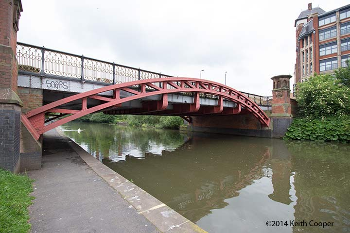 canal bridge - wide angle view