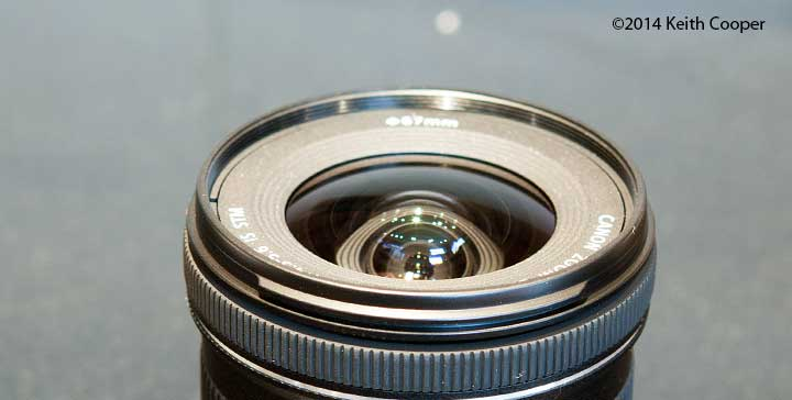 lens reflections - front elements of ef-s10-18