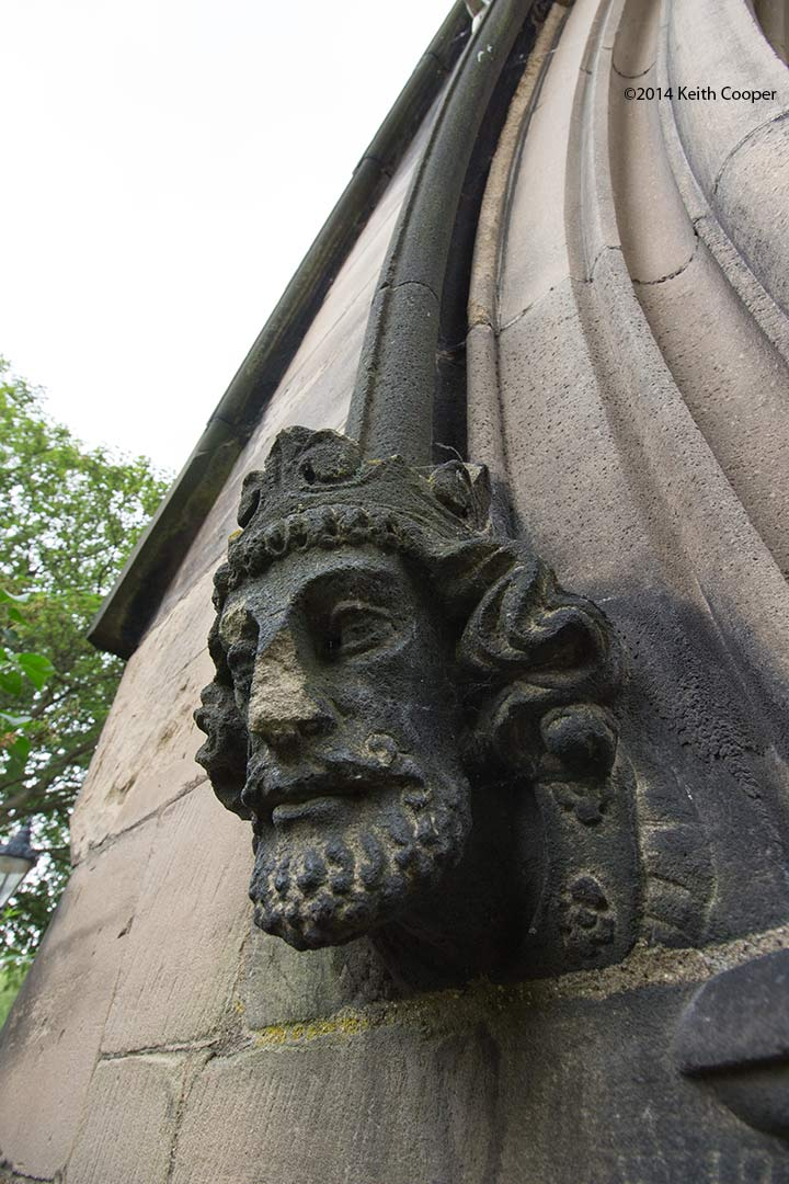 detail of stone carving. St Mary de Castro church