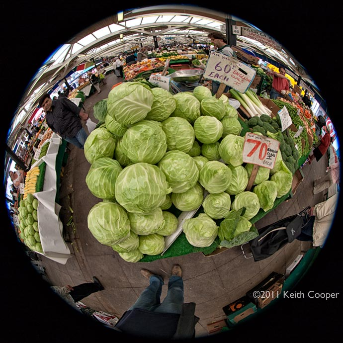 Cauliflowers at leicester market
