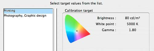 calibration for print use