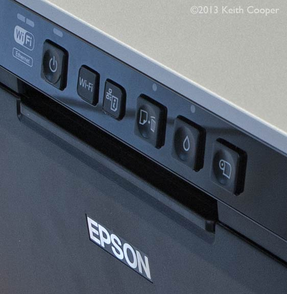 printer controls on front panel