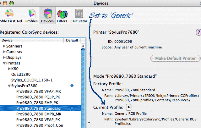 colorsync generic profile fix for epson driver