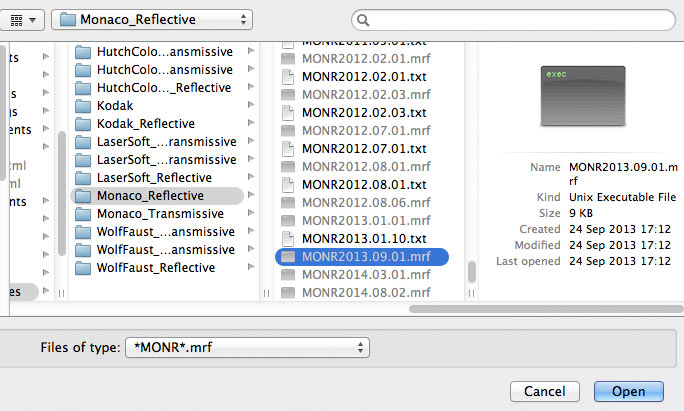loading reference files for profiling