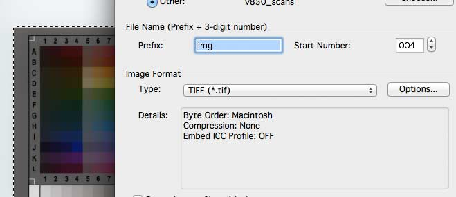 uncompressed TIFF files are needed