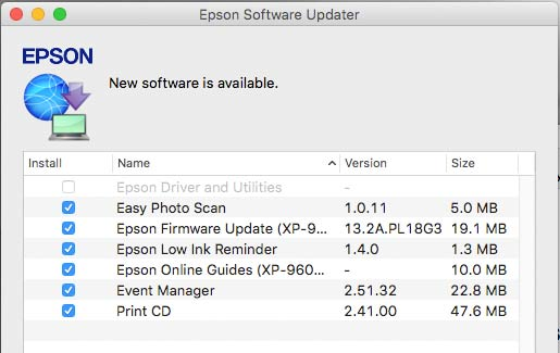 epson software updater