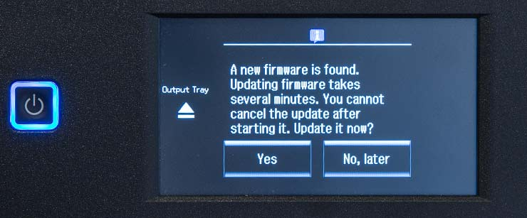 firmware update notice
